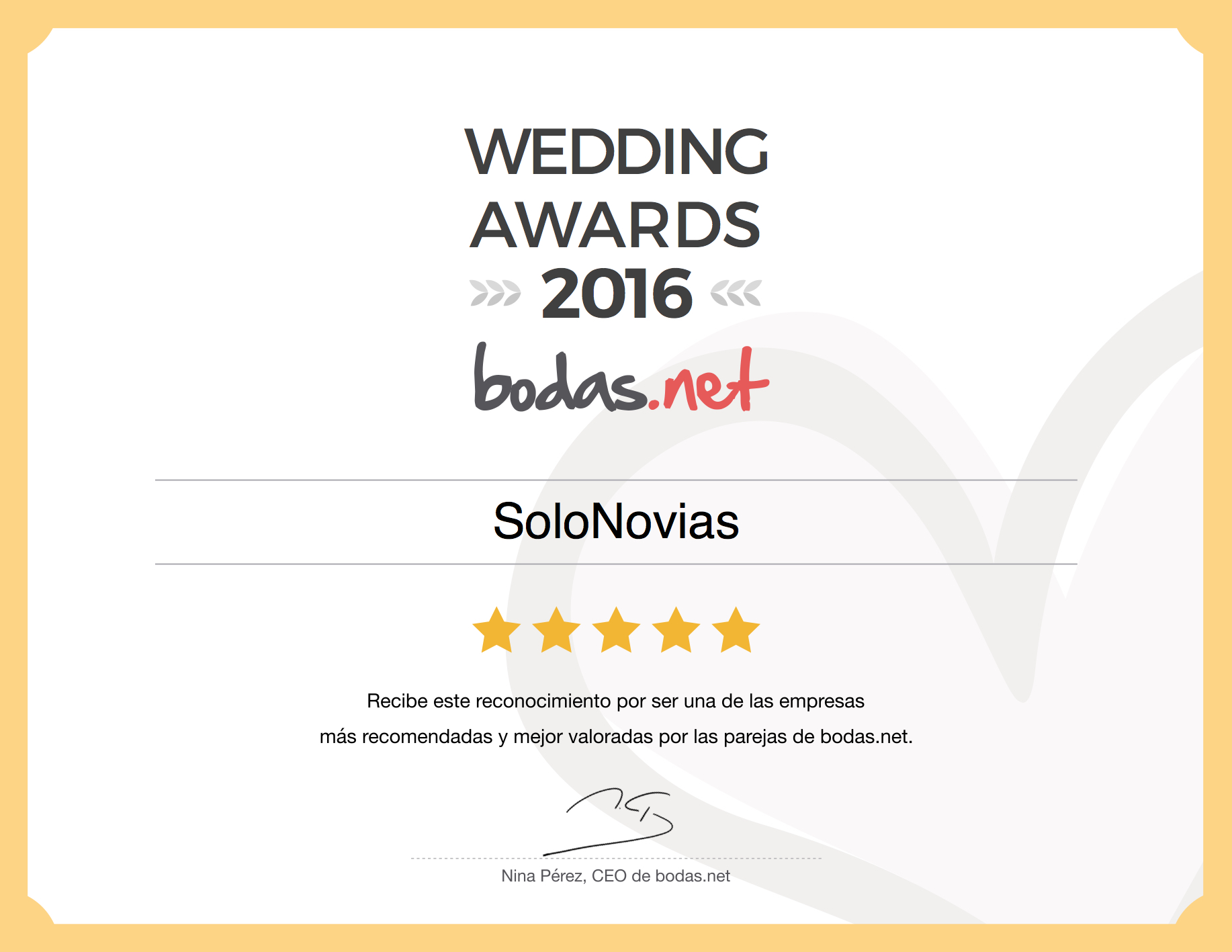 Sello Wedding Awards 2016